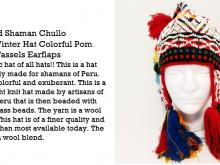 Beautiful Beaded Shaman Q'ero Chullo hat