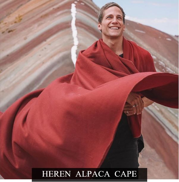 heren alpaca cape