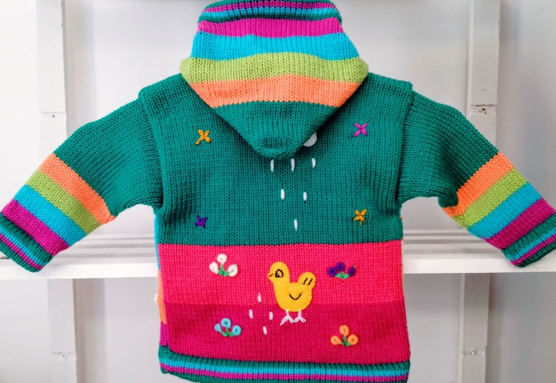 Zeegroene sweater