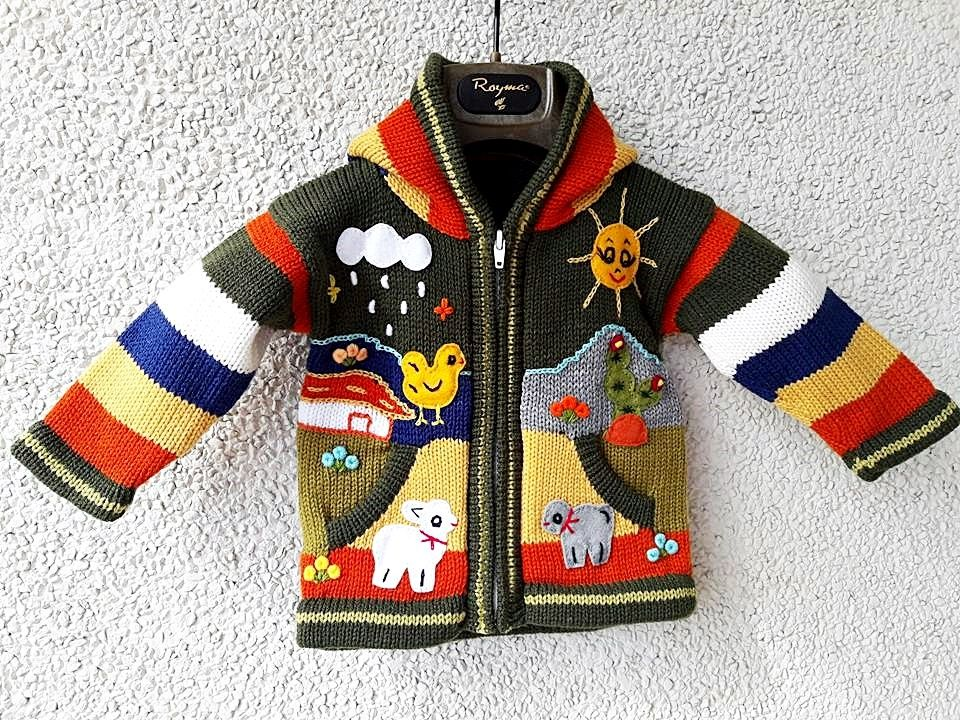 legergroen kinder vest met patches
